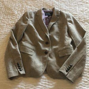 Banana Republic Factory Taupe Tweed Blazer